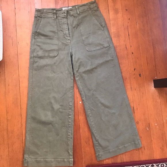 Everlane Pants - Everlane Cropped Utility Pants-Size 8